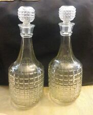Vintage Double Decanter Set Made In England