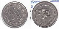 EQUATORIAL AFRICAN STATES GABON CHAD CONGO – 50 FRANCS UNC COIN 1963 YEAR KM#3