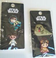 BNIP 4x Disney Star Wars pins Princess Leia, Han Solo, Slave Leia & Jabba