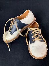 8e9df1da283cb Vintage MACYS Blue & White Saddle Oxford Dress Shoes Kids Size Size 8E