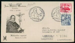 Mayfairstamps SPAIN EVENT 1949 COVER MADRID MATASELLOS ESPECIAL wwk40669