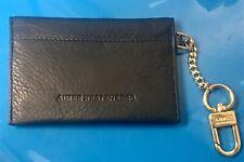 Aimee Kestenberg Card Holder Wallet Key Fob Black Leather