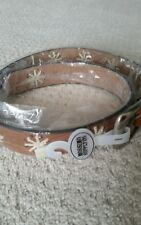 Mossimo supply co womens brown floral perforated belt small NEW