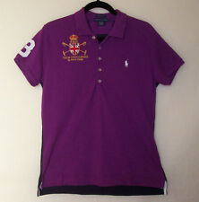 RALPH LAUREN Shirt Size XL MMIX Team Challenge RL POLO Purple Blue