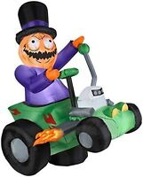 HALLOWEEN PUMPKIN MAN HOT ROD ROCKABILLY HAUNTED HOUSE INFLATABLE AIRBLOWN 6 FT