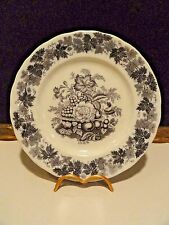 Rorstrand Mulberry Flowers Plate Transfer Ware - Antique