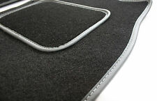 Ajuste Perfecto Alfombra Negra alfombrillas de Para Honda Accord 82-92 - Gris Ribete En Piel
