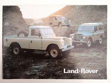 """LAND ROVER 88"""" 109"""" 1980 SALES BROCHURE"""