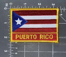 Puerto Rico National Country Flag Patch Badge Ensign Bandera Caribbean San Juan