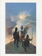 "1990 Vintage KEN KELLY ""GUARDIANS"" ANGEL WINGED COLOR Art Plate Lithograph"