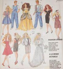 6317 McCall's Fits Fashion Barbie Ken Doll Princess Wedding Dress Overalls Vest