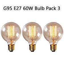 Dimmable E27 G95 Retro Vintage Flexible Edison Squirrel Filament Light Bulb 60W