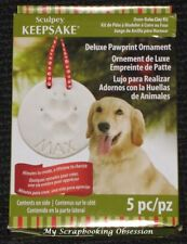 SCULPEY KEEPSAKE Deluxe Ornament PAWPRINT Clay