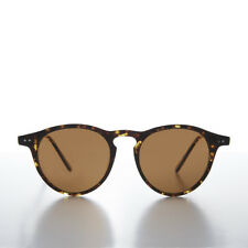 Round Horn Rim Dapper Pantos Sunglass with Keyhole Bridge Tort / Brown - Rodgers