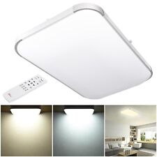 """25"""" 48W Square Dimmable LED Ceiling Light Aluminum Flush Mount Remote Control"""