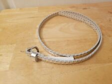 Old Navy Girls Sz Large Silver Synthetic Leather Belt E3