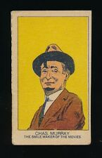 1920's W-Uncataloged Actor Strip Cards (3 lines text) -CHARLES MURRAY (Comedian)
