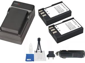 (2 Pk) EN-EL9 Battery, Compact Charger & Bundle kit f/ Nikon D5000, D3000 Camera