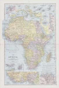 1898 Antique Map AFRICA Madagascar Mauritius Soudan Egypt Algeria Mecca (NGA26)