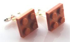 LEGO RARE Plate Cufflinks SILVER PLATED - FREE POSTAGE + FREE ORGANZA BAG