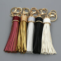 Handmade Leather Tassel Keyring Bag Purse Key Chain Handbag Charm Accessories