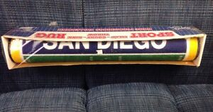 """NFL SD Chargers 28""""X52"""" Football Field Runner Area Rug Floor Mat Play Welcome"""