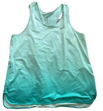 New listing Nike Dri Fit Just Do It Teal Vest Style Tshirt Top Gym Workout Size L 14 16