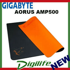 Gigabyte AORUS AMP500 Hybrid Gaming Mouse Pad Fabric Black Surface Organse Silic