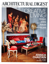 ARCHITECTURAL DIGEST October 2016 JESSICA CHASTAIN'S NY Home, Visionary Design
