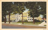Hamburg New York~Elementary Grade School~1946 Linen Postcard