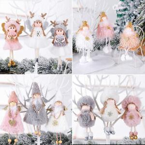 Christmas Angel Plush Doll Pendant Xmas Tree Hanging Decoration Party Ornaments~