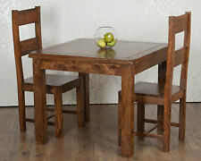 Valencia Square Dining Table 2 Chairs Dark Solid Sheesham Rosewood RRP £429!!
