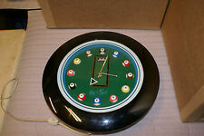 Pepsi Billiards Pool Neon Advertising Clock RARE
