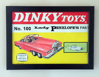 Dinky Juguetes 100 Thunderbirds Señora Penelope Fab 1 1967 Póster Enmarcado A4