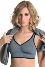 Non-wired Sports Bra Sportswear by SASSA 10862 Grey