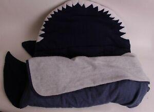 Pottery Barn Kids Shark nap mat, navy blue *sample* dirt/spots