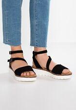 Gabor Gr. 38 5 Sandale 5 1/2 Sandalen Schuhe Plateau Gladiator Schwarz Neu