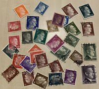 ADOLF HITLER STAMP LOT INCLUDING GROSS, 1RM, 2RM AND MORE