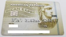 MEXICO - AMERICAN EXPRESS - EXPIRED CREDIT CARD - GOLD WITH CHIP