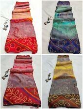 Wedding Bandhej Soft Brasso Fabric Saree Indian Festival Sari Party Function