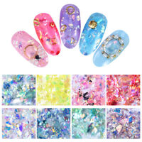 Nail Glitzer Sequins Colorful Holographisch Flakes  Nail Art Dekoration