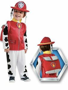 NEW BOYS RUBIES PAW PATROL MARSHALL RED FANCY DRESS COSTUME OUTFIT AGE 3-4