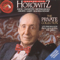 """VLADIMIR HOROWITZ """"The Private Collection Volume 1"""" (CD 1994) **EXCELLENT** bmg"""