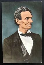 Abraham Lincoln President Curt Teich & Co Vintage Postcard Unposted