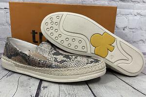Trivict Women's Slip-on Designer Sneakers Snake Skin/Tan Size 7 New With Box