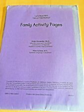 Let's Read With THE LETTER PEOPLE- FAMILY ACTIVITY PAGES  2000 ENGLISH / SPANISH