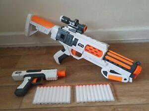 Star Wars Nerf gun bundle First Order Stormtrooper rifle pistol + bullets 34.99p