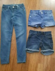 Girls Justice and SO brand Jean Shorts-Size 10 Reg and Cat and Jack Jeans 10-12