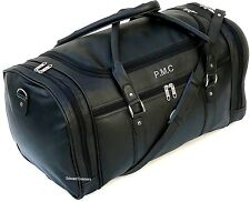 Personalised Faux Leather PU Weekend Bag Travel Holdall Duffle Sports Gym NEW