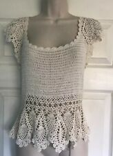 TOPSHOP Ladies summer knitted top size 12